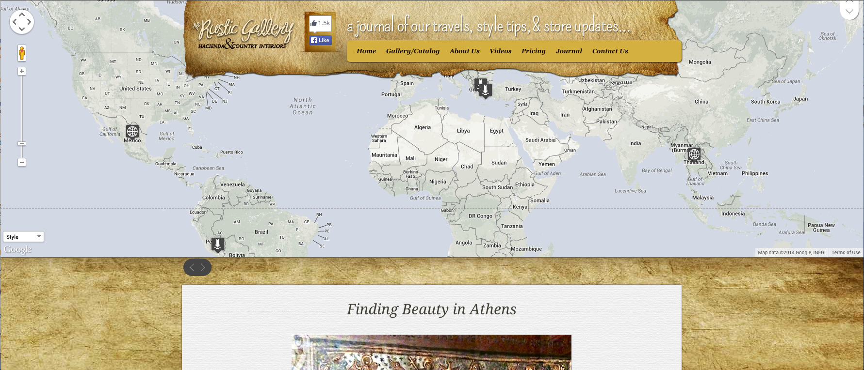 San Antonio Website Design The Rustic Gallery Blog Journal