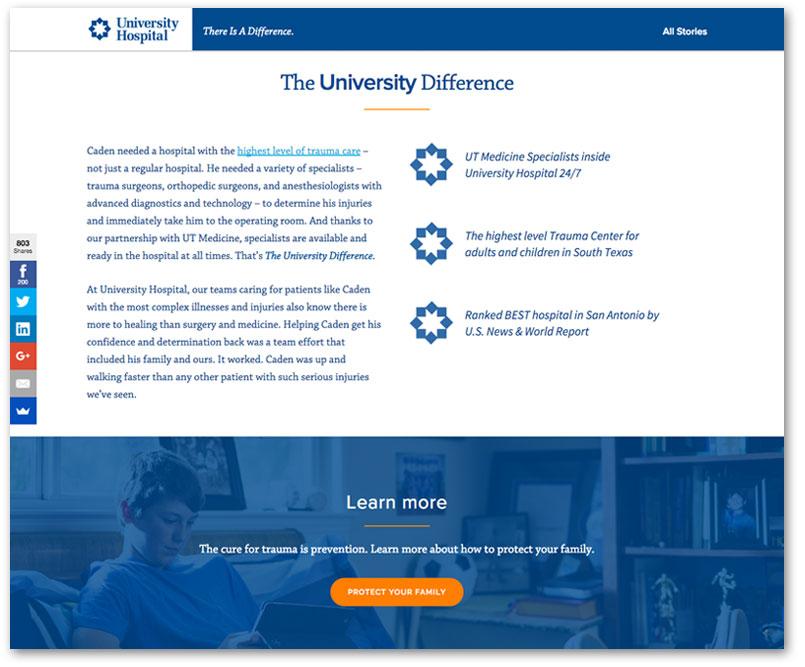 University Hospital Web Design