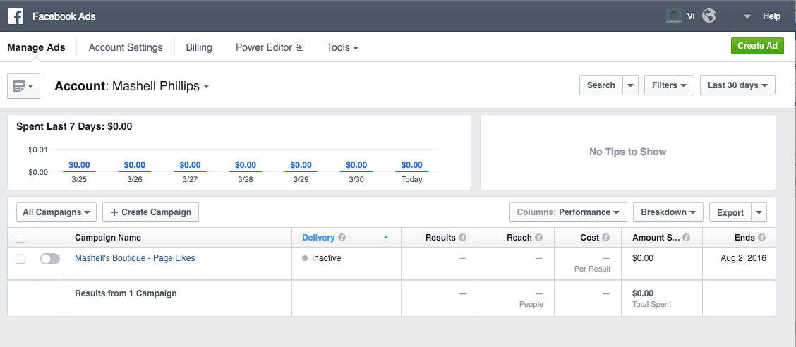 Getting Started: Advertising on Facebook with Vuepoint